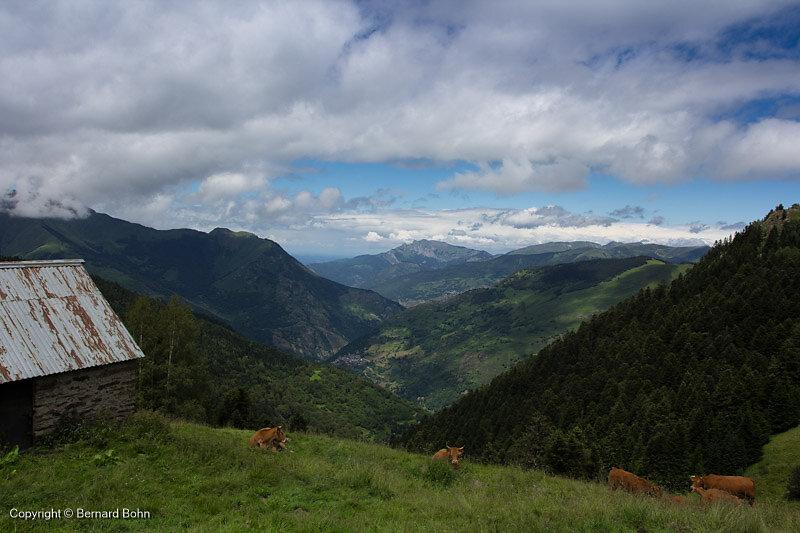 Panorama depuis la cabane Laujo