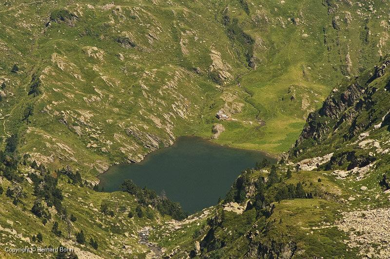 lac d'espingo vu depuis val d'Arrouge